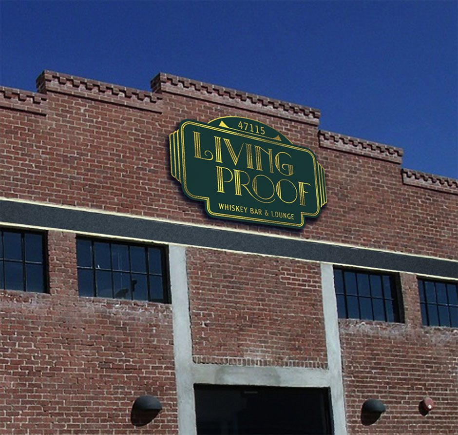 Living Proof Building Sign